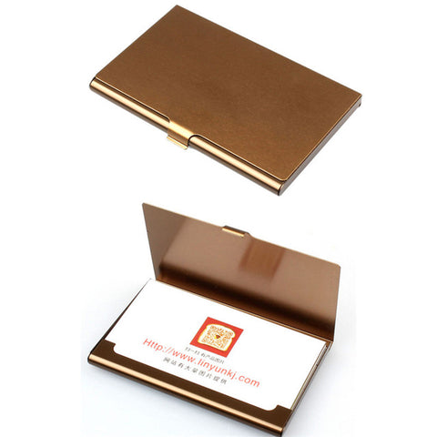 Holders 2018 Hot Sale Fashion Creative Aluminum Holder Metal Box Cover Credit Business Card Wallet High Grade Card Cases A0
