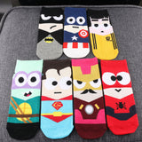 1 Pair New Fashion Women Men Kawaii Design Colorful Low Cut Ankle Socks Summer Spring Cotton Casual Ankle Short Sock Slippers