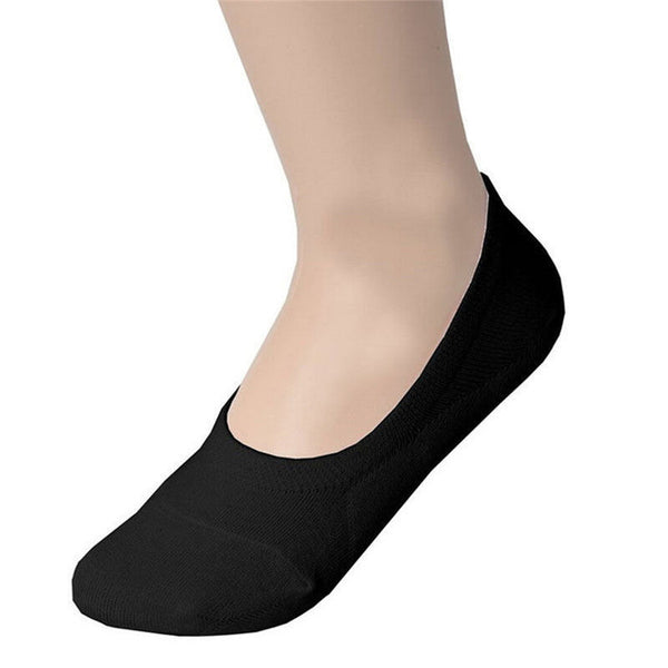 1 Pair Fashion Women/Men Soft Casual Cotton Boat Socks Low Cut Non-Slip Invisible Slippers Socks 3 Colors