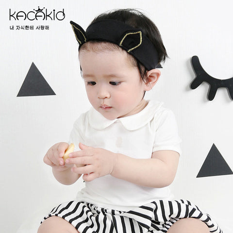 Kacakid Summer new baby girls clothing sweet girl doll collar T-shirt children cotton short-sleeved shirt