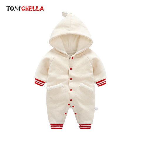 Newborn Thick Warm Hoodies Cotton Single Breasted Winter Sweatshirt Baby Boys Girls Long Sleeve Autumn Casual Clothes CL5199