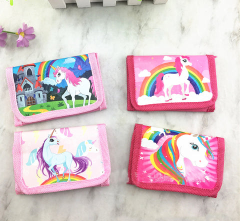 12Pcs Unicorn Miraculous Ladybug Marinette Mini Purses Money Bag Coin Pouch Children Purse Small Wallet For Kids Party Supplies