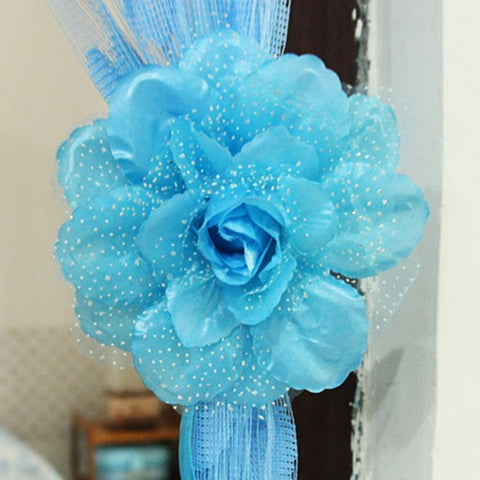 Home Curtain Holder Tie Backs  Flowers Curtain Clip Curtain Tieback Home decor Living Room Bedroom