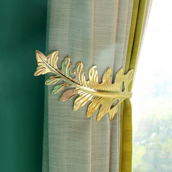 Home Window Curtain Holder Living Room Curtain Holdback Europe Decoration Curtains Accessories Tieback Leaves Curtain Hooks 30