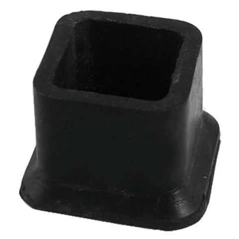 "1 1/4"" x 1 1/4"" square black foot pad caps Pipe caps Cap covers"