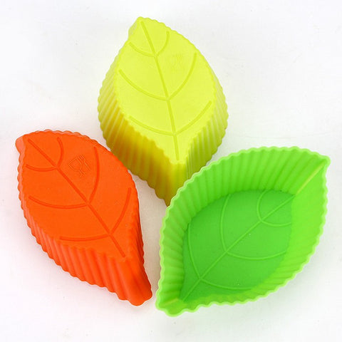 1 Pieces DIY Silicon Tool Leaves Cake Mold Muffin Chocolate Cupcake Liner Baking Cup Mold biscuit