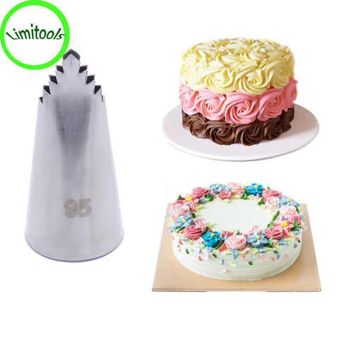 #95 Leaves Tube Decorating Tip Icing Fondant Piping Nozzles Pastry Tools Stainless Steel Flower Tips Dessert Decorators