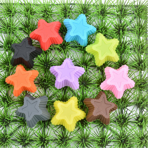 1 Piece star Cake Mold Cupcake Liner Mold tool stencil form soap Chocolate Baking silicon biscuit kitchen pastry Muffin