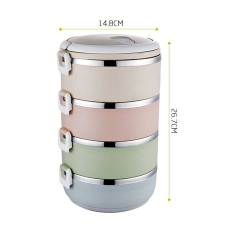 Lunch Boxes Stainless Steel Bento Box Insulated Picnic Food Storage Container Leak-Proof Portable Travel Tableware