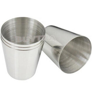 1 Pcs Stainless Steel  Vidro Vidrio 3.7cm x 2.5cm x 4.3cm ZT 35ml 1oz Wine Beer Drinking Cup