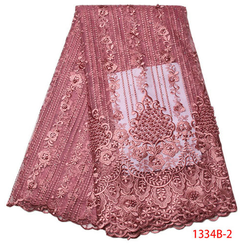 African Lace Fabric 2018 High Quality Lace Pink Nigerian Tissu Africain Guipure Embroidery French Tulle Lace Fabric Blue 1334B
