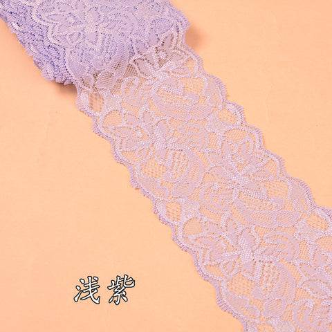 2Yards Beautiful Lace Stretch Floral Lingerie Headband Elastic DIY Lace Wide:8cm 26colors