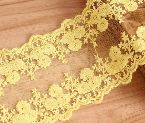 QJH Brand New Arrives Venise Water-soluble Lace Trim For Wedding DIY Home Decoration Crafted sewing 12cm Width 7 Colors