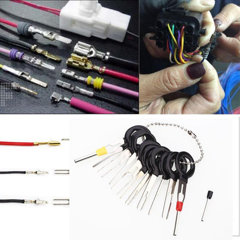 Vehemo 11pcs Car Cable Line Terminal Removal Tools Harness Wiring Pin Extractor Tool