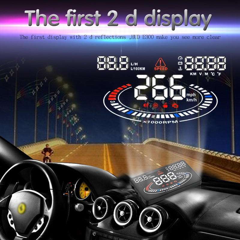 For OBD2 Interface Cars Made 2009-now Digital Car Speedometer Car Speed  Projector on the Windshield Auto Hud Head Up Display
