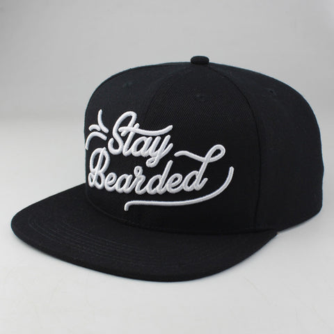 """Stay Bearded"" Snapback Cap"