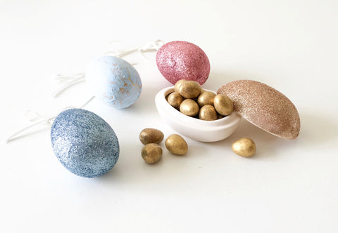 Kirsty Gadd Textiles Ceramic Easter Egg Handmade Decorations