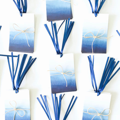 Kirsty Gadd Textiles - Blue Ombre Handmade Eco Gift Tag