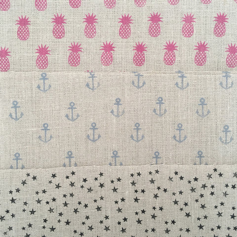 Kirsty Gadd Textiles New Fabric Prints - anchor pineapple and star