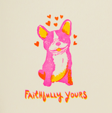 Faithfully Yours Dog Letterpress Card