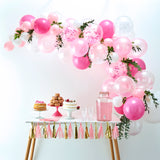 NEW! Pink & White Confetti Balloon Arch Backdrop