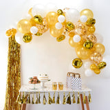 NEW! Gold, White & Pearl Balloon Arch Backdrop
