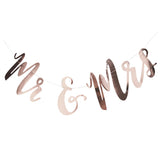 CLEARANCE: Mr & Mrs Rose Gold Bunting Backdrop