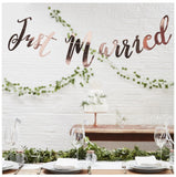 Kirsty Gadd Textiles Just Married Rose Gold Bunting Backdrop Cotswolds Cirencester