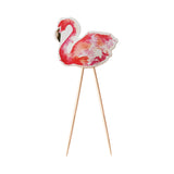 Flamingo Cupcake / Cake /  Food Toppers - 8 Pack