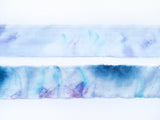 Cobalt Blue & Magenta Marbled Hand-Dyed Silk Ribbon
