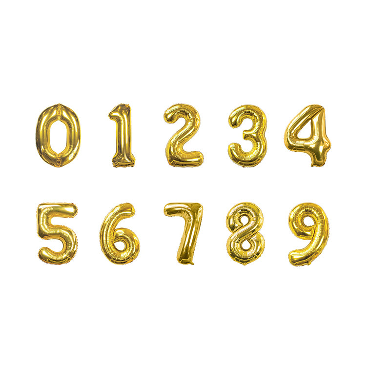 Giant Gold Foil Balloon Bunting - NO HELIUM