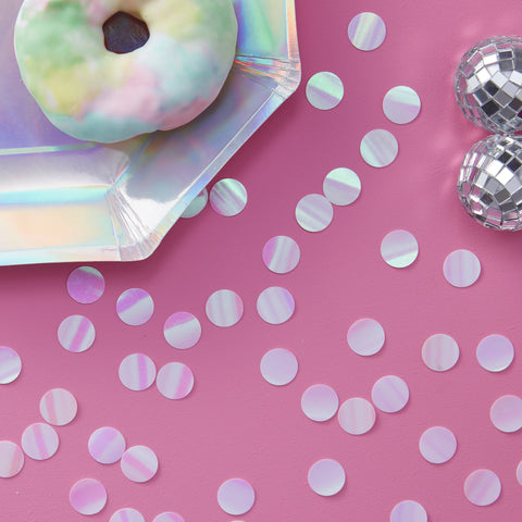 CLEARANCE: Rainbow Iridescent Table Confetti - Iridescent Party