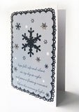 Kirsty Gadd Textiles - Greetings Card Christmas Snowflakes