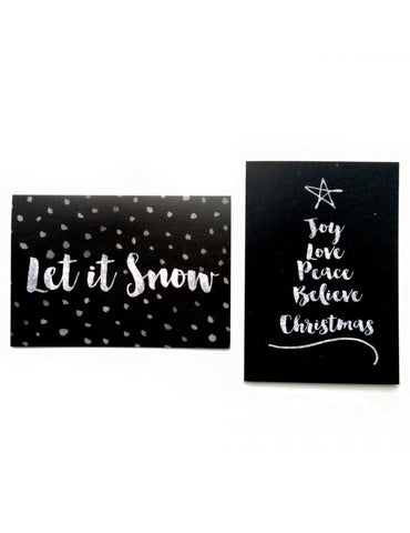 'Let It Snow' Luxury Christmas Card Pack - Pack of 8