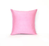 Kirsty Gadd Textiles - Hand Dyed Light Pink Rose Quartz Silk Dupion Linen Cushion