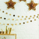 Gold Foil Circle Garland- 5m - Metallic Star -  Wedding | Hen party | Bachelorette Party | Christmas | New Year Party | Birthday | Bunting Bachelorette Party	Engagement Decor	Hen Party Banner	Hen Party Bunting	Hen Do Banner	Hen Party Decor	bachelorette prop	Gold Thanksgiving	Christmas Decoration	Gold Bunting NYE	Gold Christmas Decor	Gold Holiday Decor	Gold Decorations