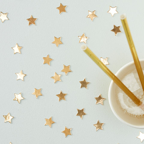 Gold Star Confetti - Metallic Star