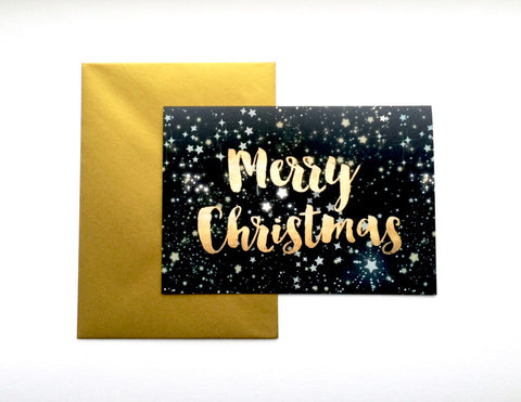 Starry Christmas Card -  Pack of 8