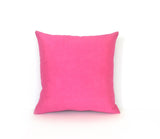 Kirsty Gadd Textiles - Hand Dyed Mid Pink Silk Dupion Linen Cushion