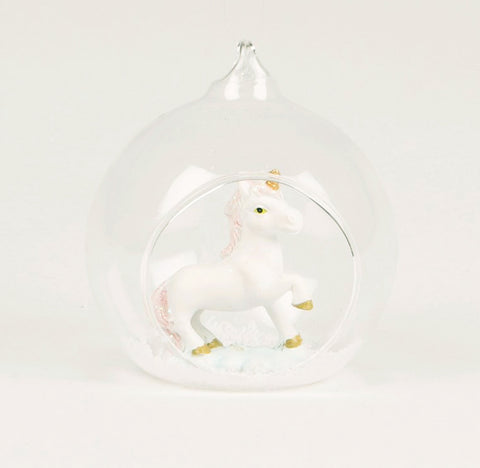 CLEARANCE: Unicorn Glass Bauble