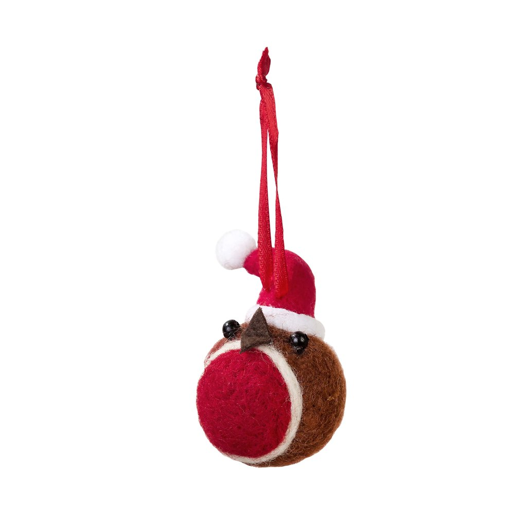NEW IN! Robin Felt Christmas Bauble