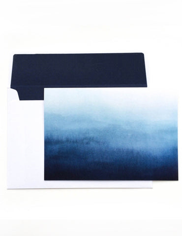 Blue Ombre Notelet