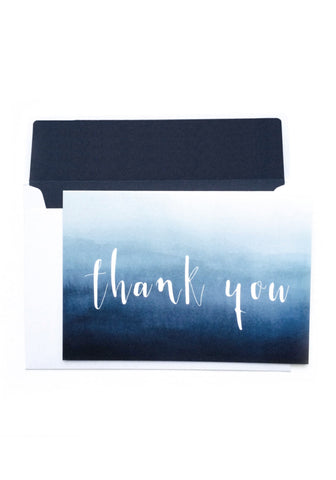Thank You Card - Blue Ombre