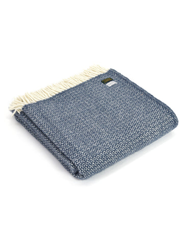 Navy Blue Illusion Wool Blanket