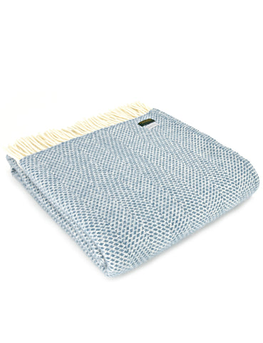 NEW! Petrol Beehive Wool Blanket