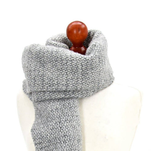 Illusion Grey Wool Scarf