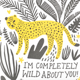 Completely Wild About You Letterpress Card