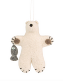 NEW IN! Felt Polar Bear with Fish