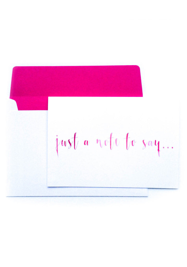 Just a Note to Say... Hot Pink Watercolour Notelet
