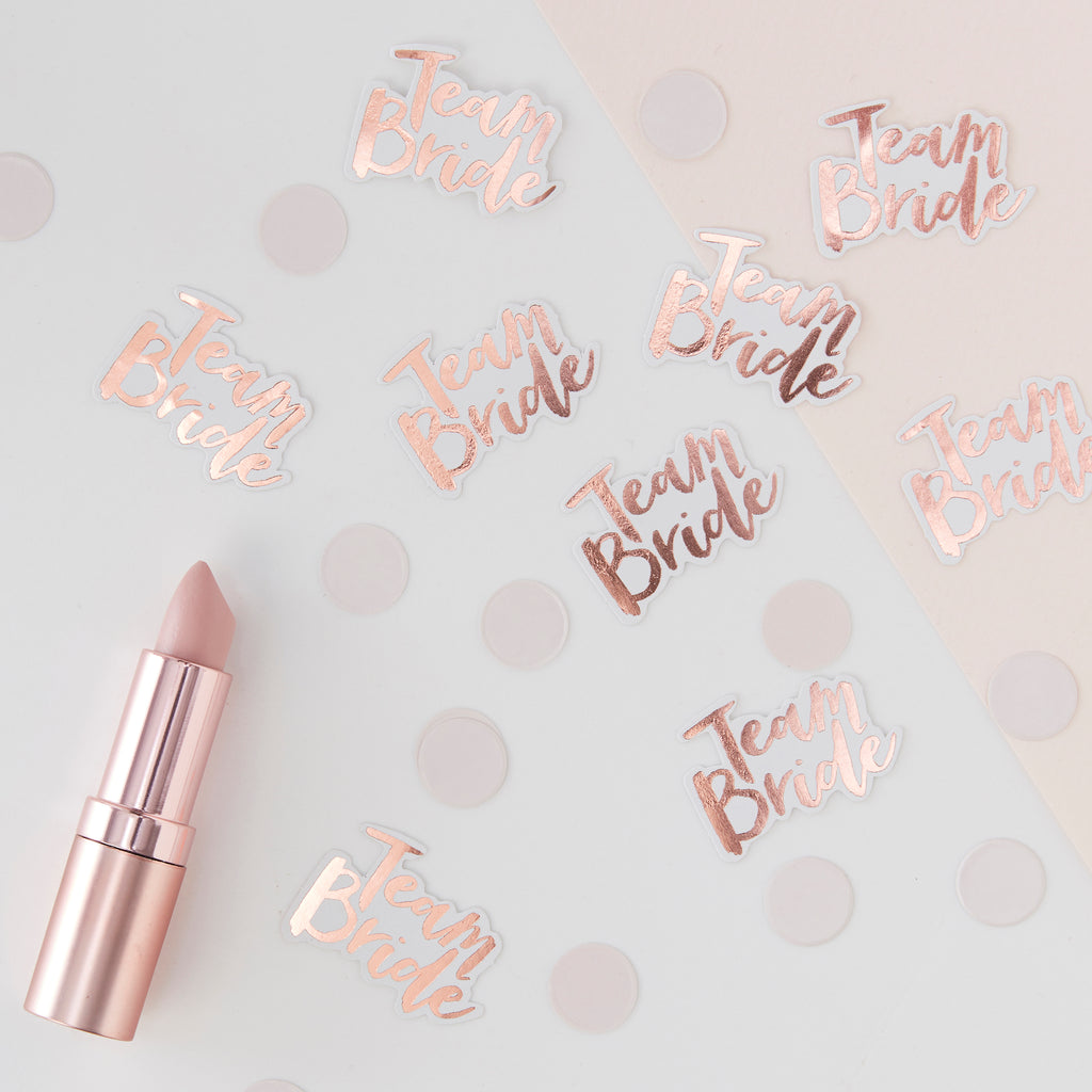 Rose Gold Table Confetti - Team Bride